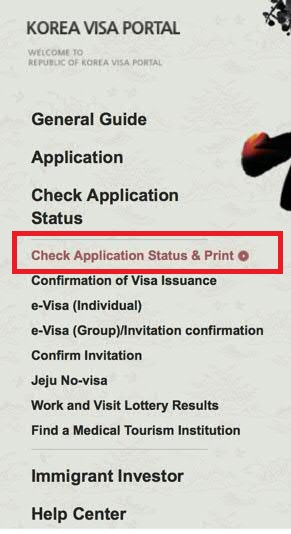 email to check on application status