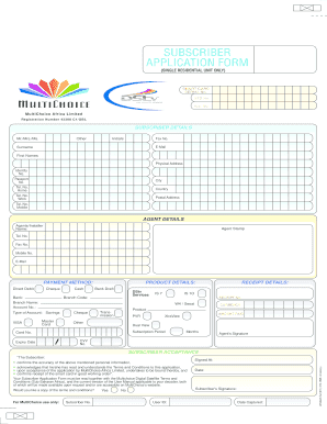 post office box application form