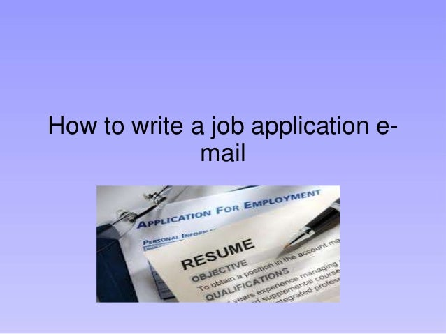 what to put in email for job application