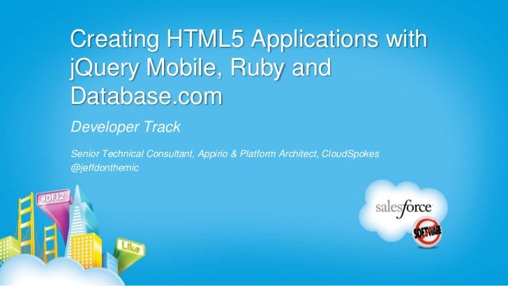 uses of html5 in mobile applications