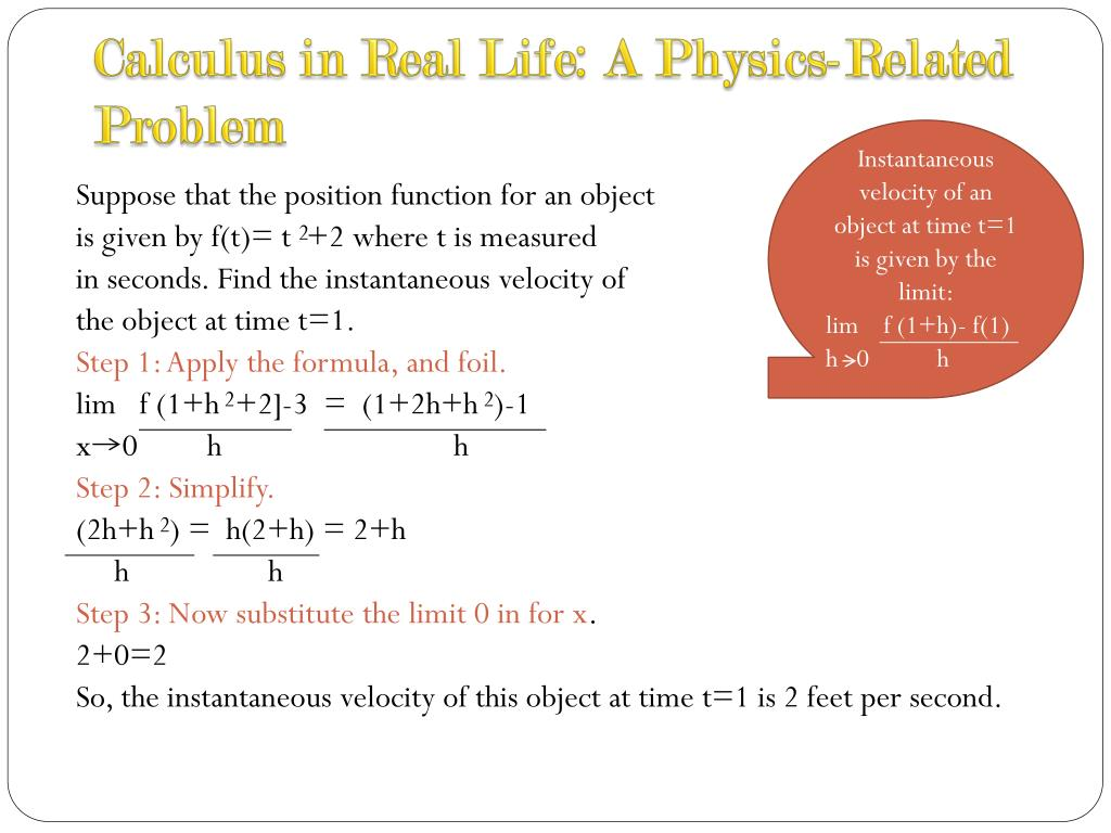 application of limits and continuity in real life