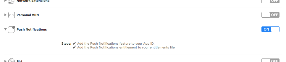 no valid aps environment entitlement string found for application