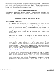 training application and authorization form